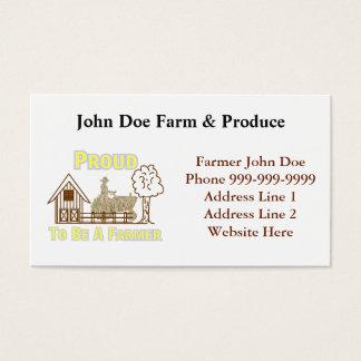 Stolz, eine Bauers-Geschäfts-Karte zu sein Visitenkarte