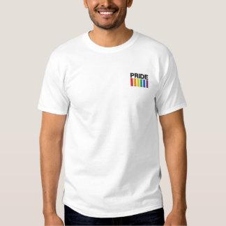 Stolz gestickter grundlegender T - Shirt