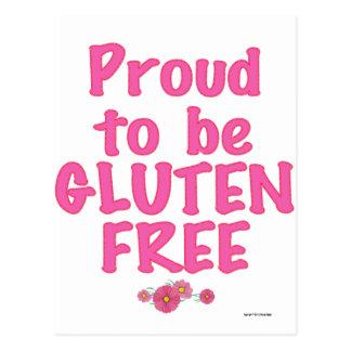 Stolz Gluten sein frei - Rosa Postkarten