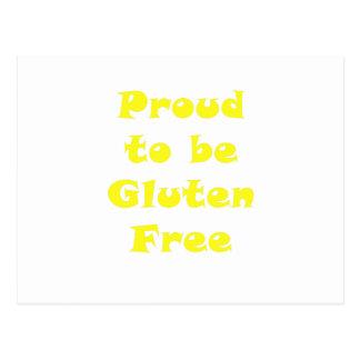 Stolz, Gluten zu sein geben Sie frei Postkarte