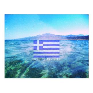 Stolz, griechisch zu sein postkarte