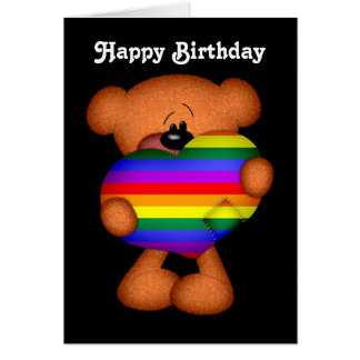 Stolz-Herz-Teddybär-alles Gute zum Geburtstag Grußkarte