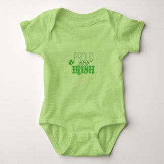Stolz, irische Kleidung zu sein Baby Strampler