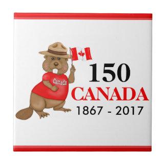 Stolz kanadischer Jahrestag des Biber-150 Fliese