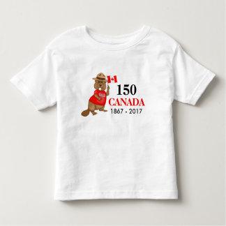 Stolz kanadischer Jahrestag des Biber-150 Kleinkind T-shirt