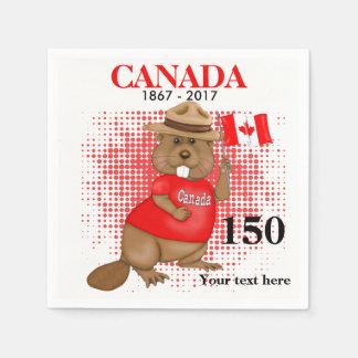 Stolz kanadischer Jahrestag des Biber-150 Papierservietten