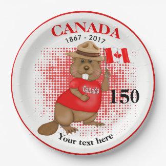 Stolz kanadischer Jahrestag des Biber-150 Pappteller