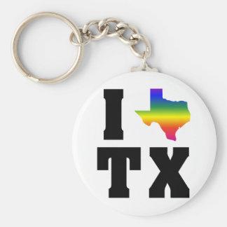 Stolz Texas GLBT (2) Standard Runder Schlüsselanhänger