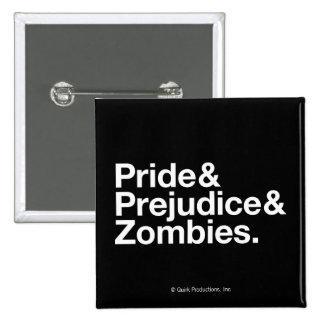 Stolz u. Predjudice u. Zombies Quadratischer Button 5,1 Cm