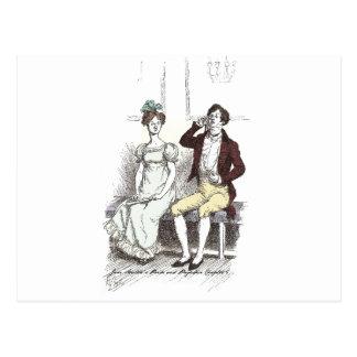 Stolz u. Vorurteil - Darcy sitzt still durch Frau Postkarte