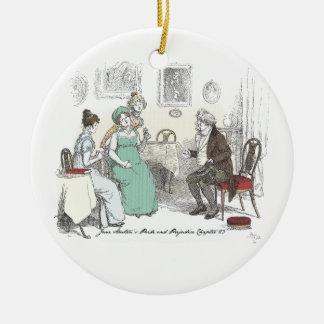 Stolz u. Vorurteil - Mitteilung durch Sir William Rundes Keramik Ornament