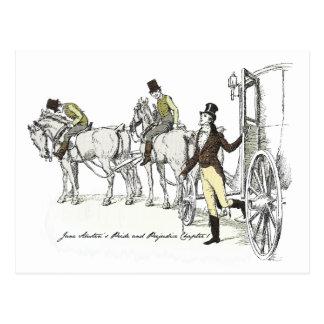 Stolz und Vorurteil - Bingley Wagen und vier Postkarte