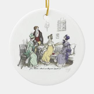 Stolz und Vorurteil - der Netherfield Ball Invitat Rundes Keramik Ornament