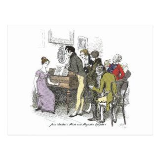 Stolz und Vorurteil - Elizabeth Bennet führt durch Postkarte