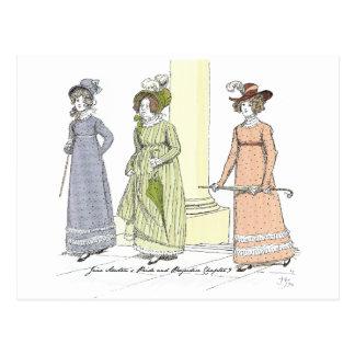 Stolz und Vorurteil - Frau Bennet Visits Jane Postkarte