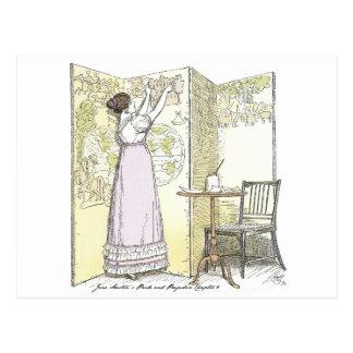 Stolz und Vorurteil - sehr erreichte Damen Postkarte