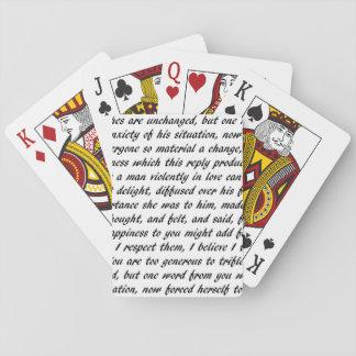 Stolz-und Vorurteil-Text Spielkarten