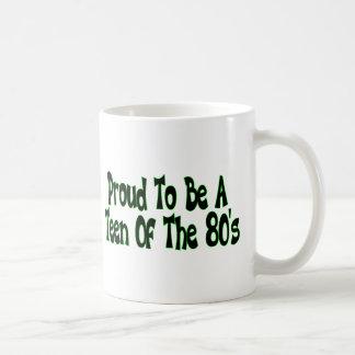 Stolze Achtzigerjahre jugendlich Kaffeetasse