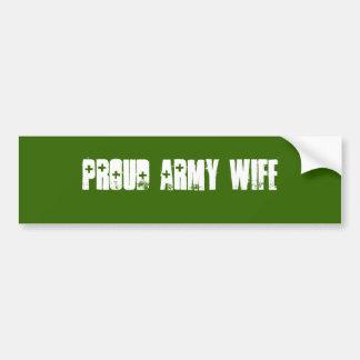 Stolze Armee-Ehefrau Autoaufkleber