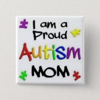 Stolze Autismus-Mamma Quadratischer Button 5,1 Cm
