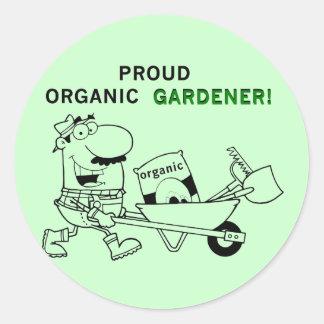 Stolze Bio Gärtner-T-Shirts und Geschenke Runder Aufkleber