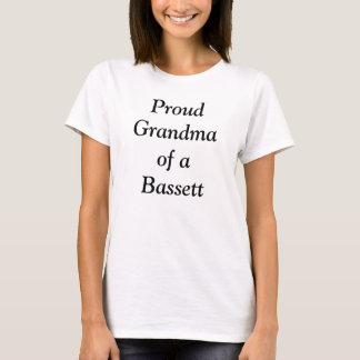 Stolze Großmutter eines Bassets T-Shirt