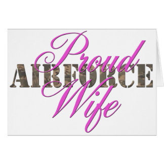 stolze Luftwaffen-Ehefrau Karte