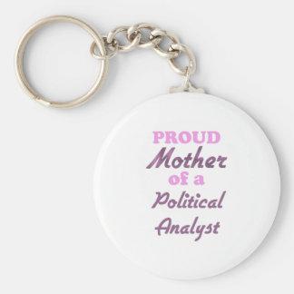 Stolze Mutter eines politischen Analysten Schlüsselanhänger