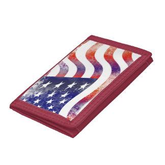 Stolze patriotische USA-Flaggen-rotes weißes