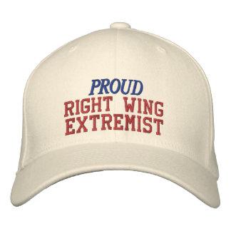 Stolze Rechte-extremes lustiges politisches Bestickte Kappe