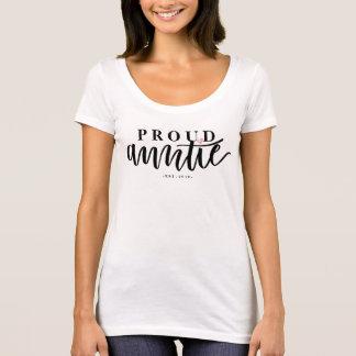 Stolze Tante - Hand beschriftete T-Shirt