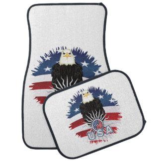 Stolzer Amerikaner Eagle Autofußmatte