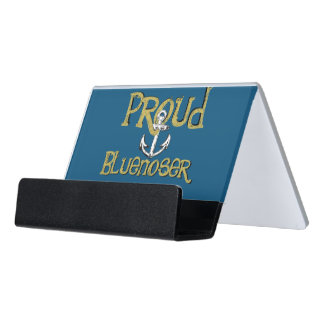 Stolzer Bluenoser Neuschottland Anker-Kartenhalter Schreibtisch-Visitenkartenhalter