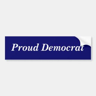 Stolzer Demokrat-Autoaufkleber Autoaufkleber