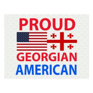 Stolzer georgischer Amerikaner Postkarte