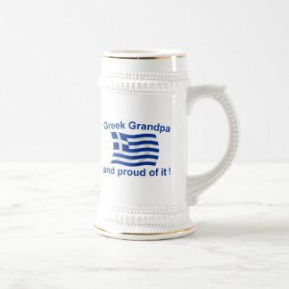 Stolzer griechischer Großvater Bierkrug