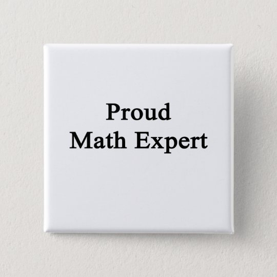 Stolzer Mathe-Experte Quadratischer Button 5,1 Cm