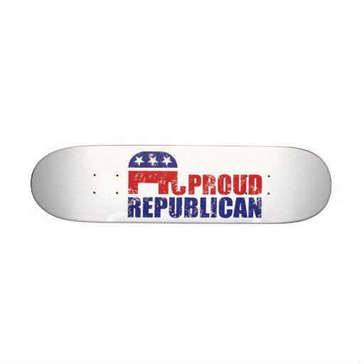 Stolzer republikanischer Elefant beunruhigtes TAN Individuelles Deck