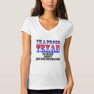 Stolzer Texan - der T - Shirt der Frauen
