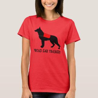 Stolzer Trainer der Such-und Rettungsdienst-Hunde T-Shirt