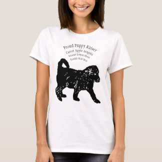 Stolzer Welpen-Erbauer mit IHREN Welpennamen T-Shirt