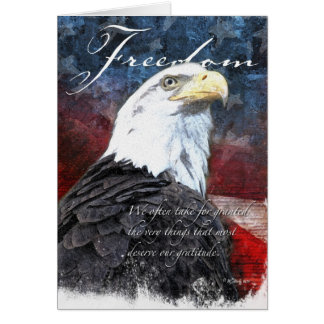 Stolzes Eagle - Dankbarkeit Karte