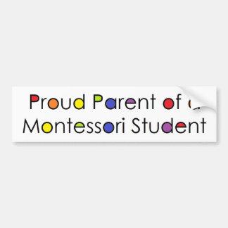 Stolzes Elternteil eines Montessori Studenten Autoaufkleber