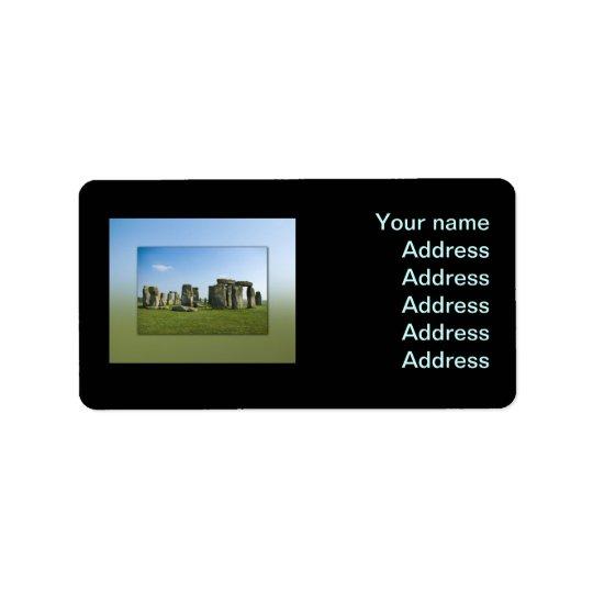 Stonehenge Adressetikett