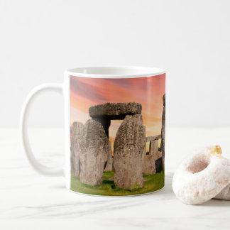 Stonehenge an der Sonnenuntergang-Tasse Kaffeetasse