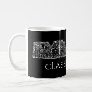 Stonehenge klassischer Felsen-Schwarzweiss-Tasse Kaffeetasse