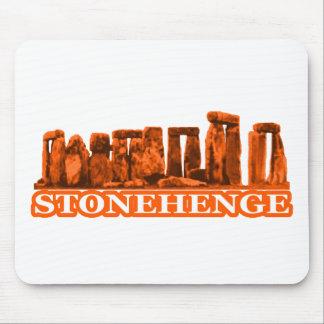 Stonehenge orange Weiß die MUSEUM Zazzle Geschenke Mousepad