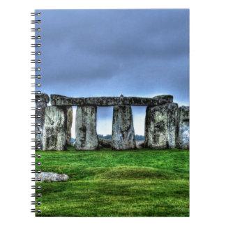 Stonehenge stehende Steine an der Dämmerung Spiral Notizblock