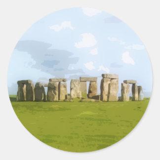 Stonehenge Steinkreis-Monument Runder Aufkleber