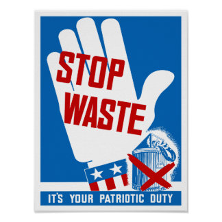 Stoppen Sie Abfall, den es Ihre patriotische Poster